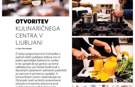 Članek Otvoritev kulinaričnega centra v Ljubljani