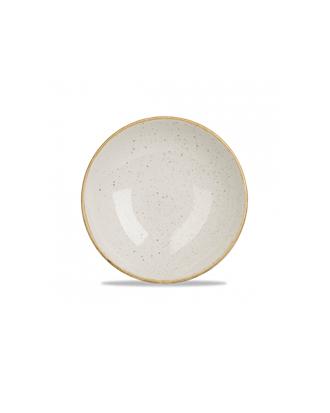 Churchill Stonecast globok ječmenasto bel krožnik (24 cm)