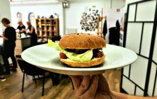 vegi burger na kuharski delavnici